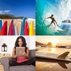 4 images 1 mot 4 lettres niveau surf 1