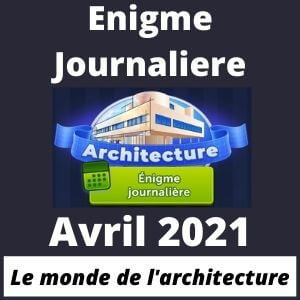 4 images 1 mot Enigme Journaliere Avril 2021
