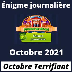 Enigme Journaliere Octobre 2021 Octobre Terrifiant